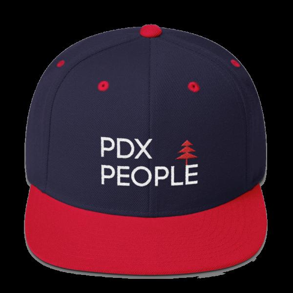 PDX People - Navy/Red - Snapback Cap