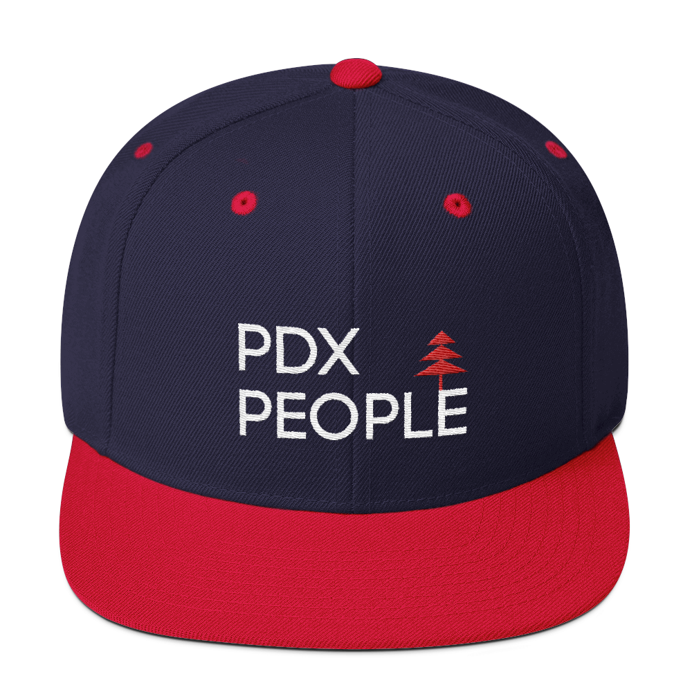 PDX People - Navy/Red - Snapback Cap