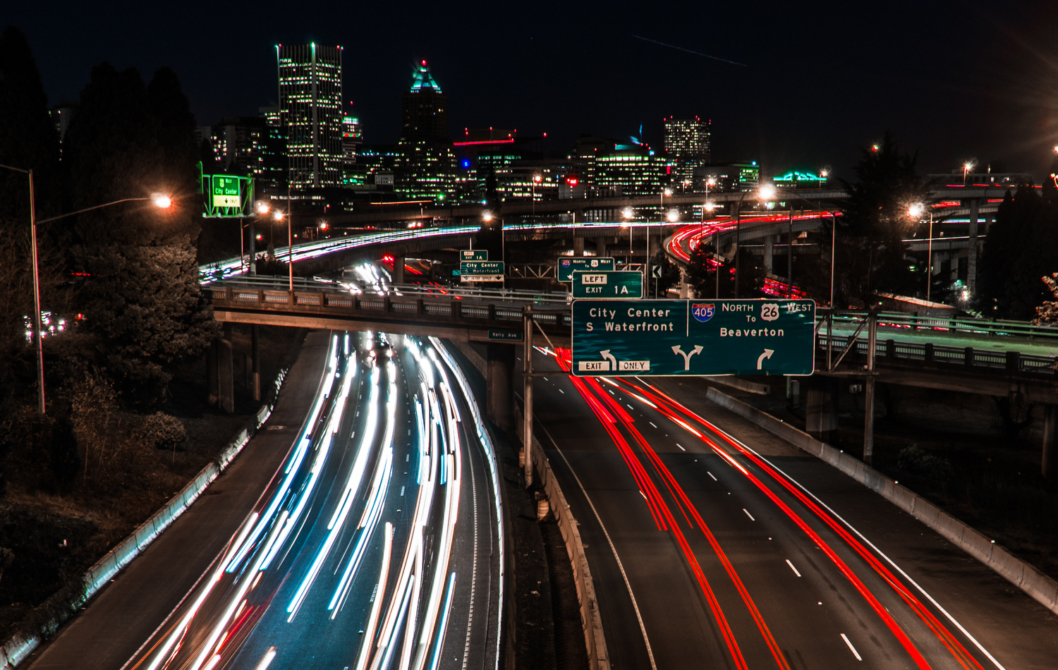 PDX Light Trails