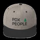 PDX People - Wool Blend Snapback - Heather/Black