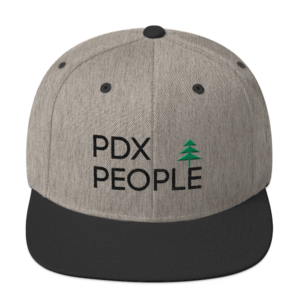 PDX People - Wool Blend Snapback - Heather/Black