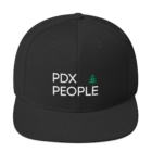 PDX People Cap - Snap Back - Black