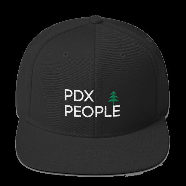 PDX People Cap - Snap Back - Black