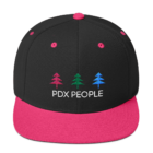 PDX -Portland Hats – Black/ Neon Pink - Caps