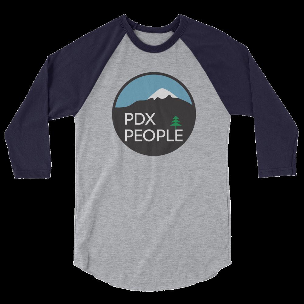 PDX People - Unisex Fine Jersey Raglan Tee