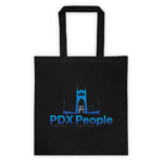 PDX People - St Johns Bridge - Tote - Black/Blue