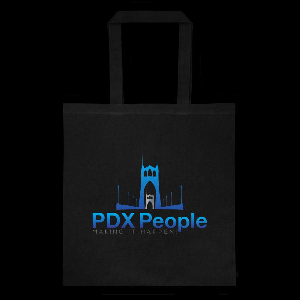 PDX People - St Johns Bridge - Tote - Black/Blue