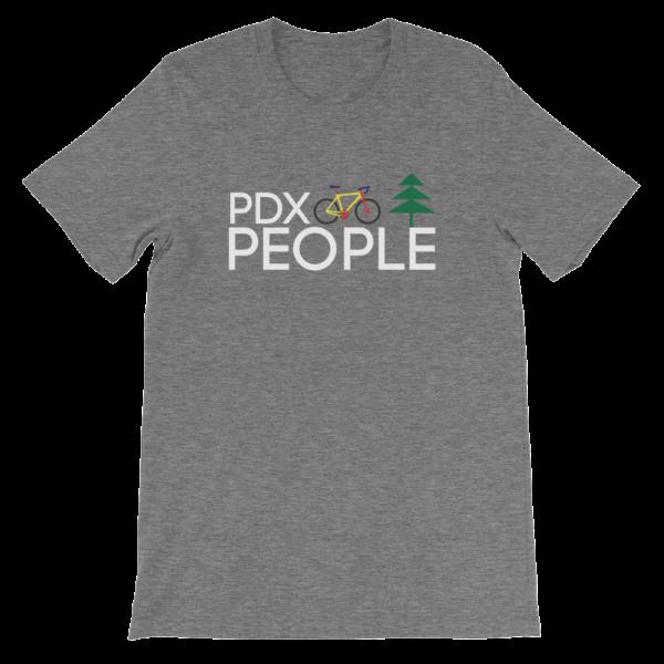 PDX Bike People - T Shirt - Deep Heather