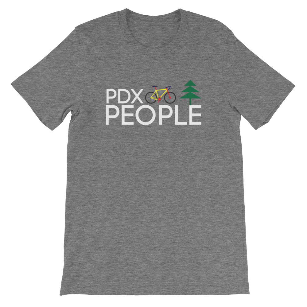 PDX Bike People - T Shirt - Deep Heather