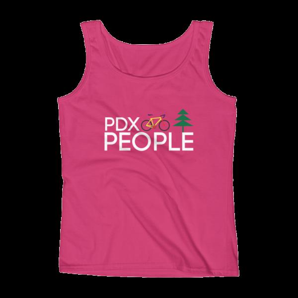 PDX Bike People - Tank Top - Hot Pink