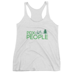 PDX Bike People - Tank Top - Heather White