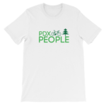 PDX Bike People - T Shirt - White/Green