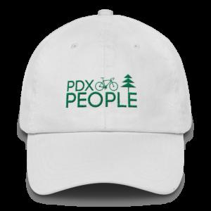 PDX Bike People - Dad Cap - White