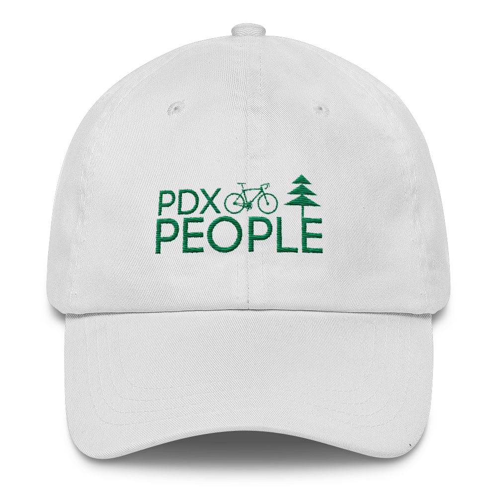 PDX Bike People - Dad Cap - White