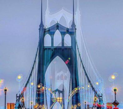 Wild and crazy St John's Bridge - photo by @pnw.zack